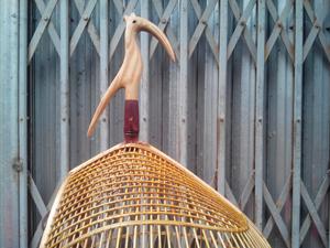 Lồng cu gáy quả đào nuôi đuôi