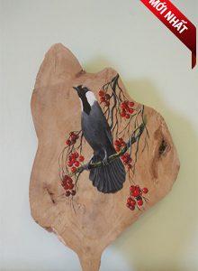 Tranh gỗ tích chim khướu