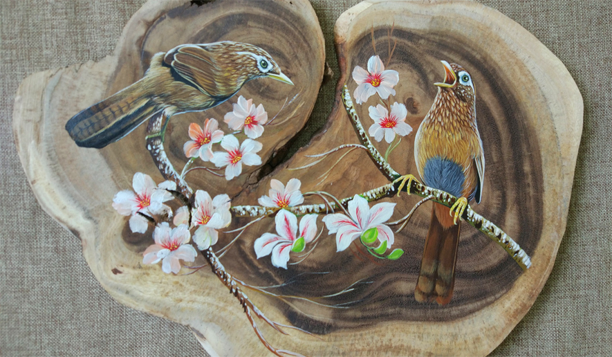 long chim hoa mi